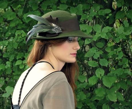 Sombrero de fieltro invierno