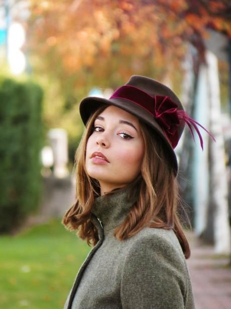 Sombrero-fedora-marron