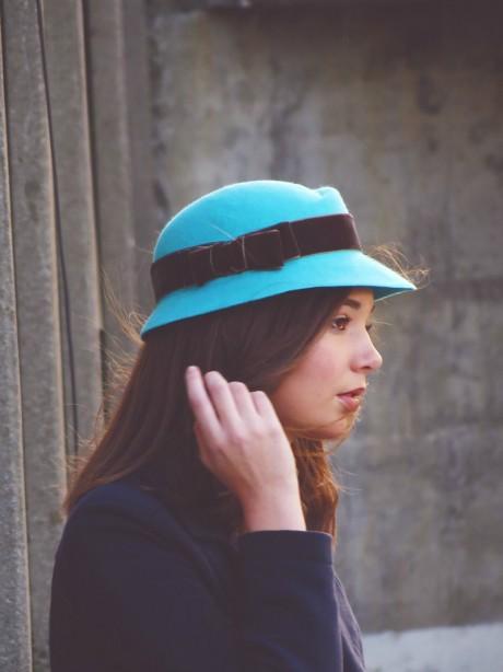 Sombrero-fieltro-azul